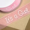 "Chiffongband ""It´s a Girl"", metervara"