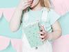 Popcornboxar mintgrön prickig, 6-pack