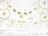 Presentask änglavingar vit, 10-pack