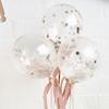 Tårtdekoration - Mini confetti ballonger roséguld 5pack