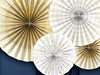 Dekorationsrosetter Vit/guld, 4-pack