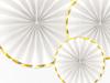 Dekorationsrosetter vit, 3-pack