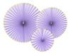 Dekorationsrosetter lila/guld, 3-pack