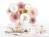 Dekorationsrosetter rosa/guld, 3-pack