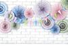 Barnkalas dekoration rosetter Mix, 3-pack