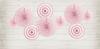 Kalasdekor rosetter Ljusrosa, 3-pack