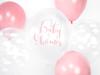 "Ballong ""Babyshower"" transparent/rosa, 5-pack"