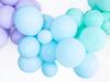 Ballonger Pastell matt ljusblå, 10-pack