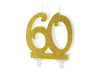 Tårtljus siffra 60 guld