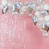 Ballonggirlang holografisk silver stjärnor
