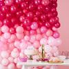 Ballongvägg rosa 2 m. x 2 m.