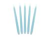 Stearinljus ljusblå matt 24 cm - 10 st