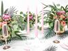 Stearinljus rosa matt 24 cm - 10 st