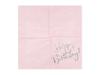 """Servetter """"Happy Birthday"""" rosa/holografisk silver, 20-pack"""
