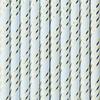 Sugrör blå/guld, 10-pack