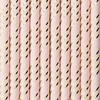Sugrör rosa/guld, 10-pack