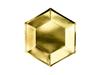 Engångsassiett guld 20 cm, 6-pack