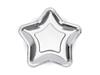 Tallrik stjärna silver, 6-pack