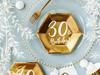 Engångsassiett 30 år Guld 20 cm, 6-pack