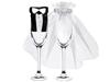 Bröllopsdekor till champagneglas