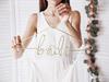 """Galge """"bride"""" brud Guld"""