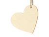 Placeringkort/tags trä hjärta, 10-pack
