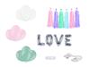 Bildekoration Kit Pastell LOVE