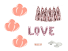 Bildekoration Kit Rosé LOVE