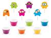 Cupcake set Monster 6-pack