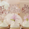 Cupcake toppers till Babyshower - Baby in Bloom