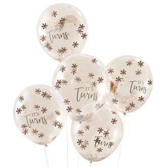 Ballonger till Babyshower för tvillingar