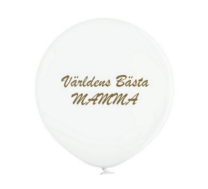 """Jätteballong """"Världens bästa Mamma!"""""""