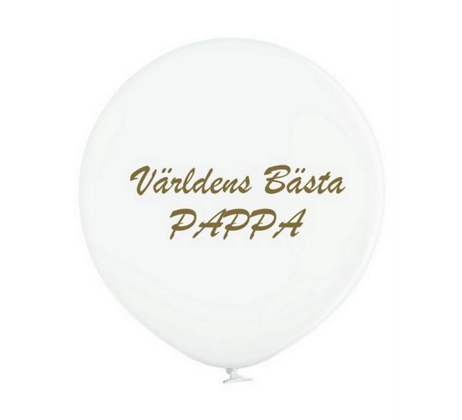 """Jätteballong """"Världens bästa Pappa!"""""""