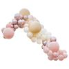 Ballonggirlang Persika/Rosa/ Roséguld, 200 ballonger