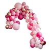 Ballonggirlang Rosa/Roséguld/vit med 200 ballonger