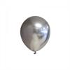 Ballonger Silver glansiga 12 cm, 10-pack