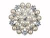 Brosch/smycke till bukett pärlor/silver, 45 mm.