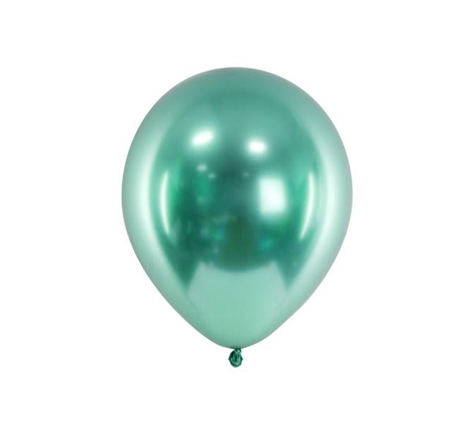 Glansiga ballonger mintgrön, 10-pack