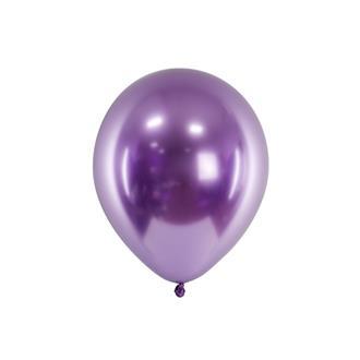 Glansiga ballonger lila, 10-pack