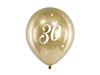 Födelsedagsballonger 30 år guld, 6-pack