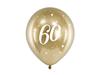 Födelsedagsballonger 60 år guld, 6-pack