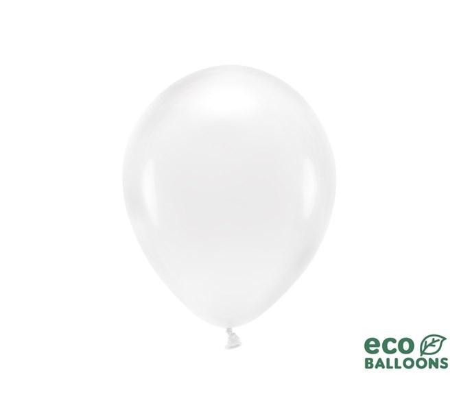Eko ballonger genomskinlig 26 cm, 10 st.