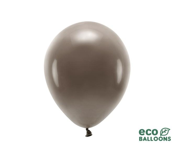 Eko ballonger pastell brun 30 cm, 10-pack