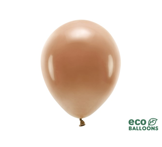 Eko ballonger pastell chokladbrun 30 cm, 10-pack