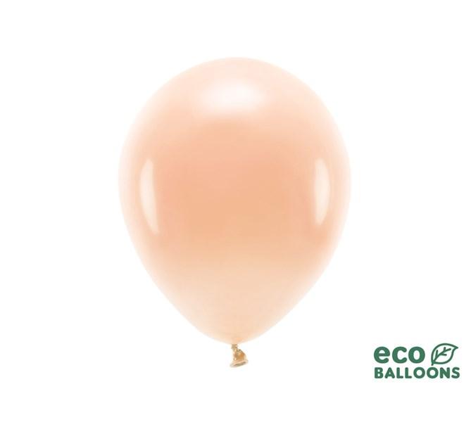 Eko ballonger pastell persika 30 cm, 10-pack