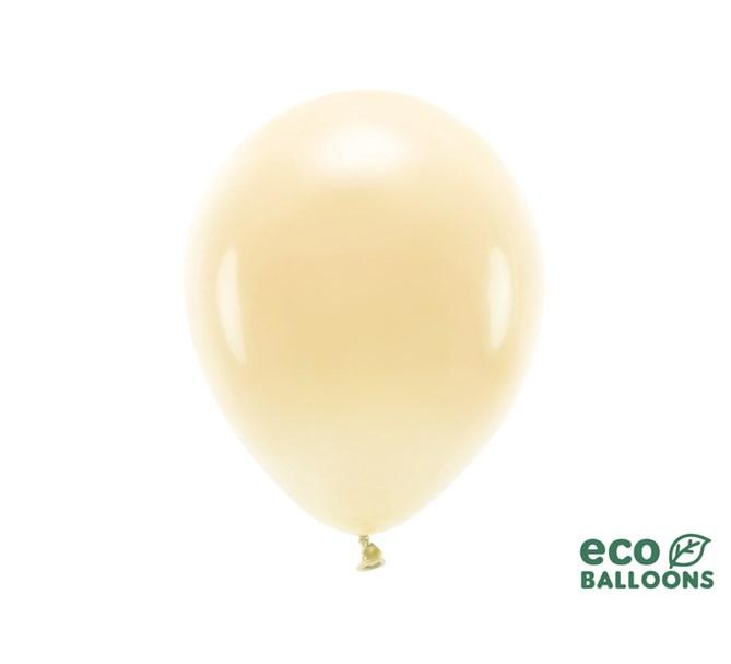 Eko ballonger pastell ljus persika 30 cm, 10-pack