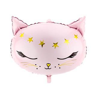 Folieballong rosa katt
