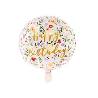 """Folieballong """"Happy Birthday"""" rosa/guld"""
