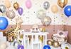 "Folieballong ""Happy Birthday To You"" vit/guld"