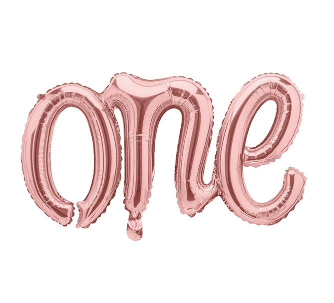 "Folieballong ""One"" Roséguld"
